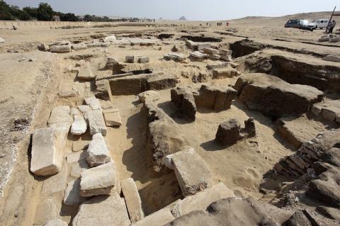 В Абусире обнаружили ранее неизвестный храм Рамсеса II