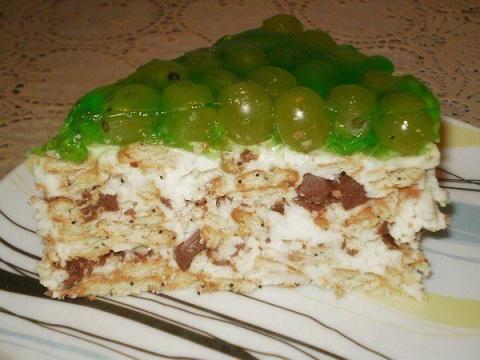 Торт без выпечки с виноградом. 4 рецепта - Перец горький на зиму