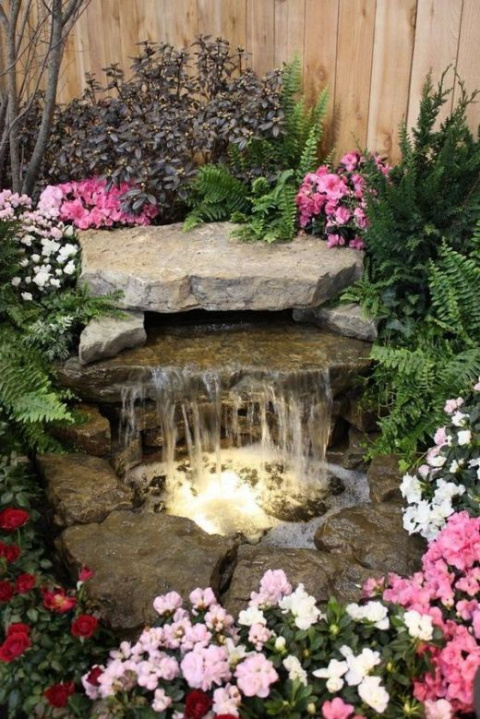 Как устроить ручей с водопад…