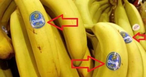 Что означают наклейки бананах ?