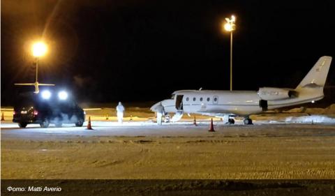 В Лапландии немецкого пилота убило дверью киевского самолета, перевозившего россиян