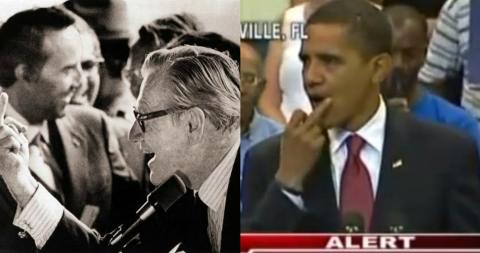 «Да пошел ты… в Парламент!» или живописные фотографии известных политиков, которые показали пальчик на публику