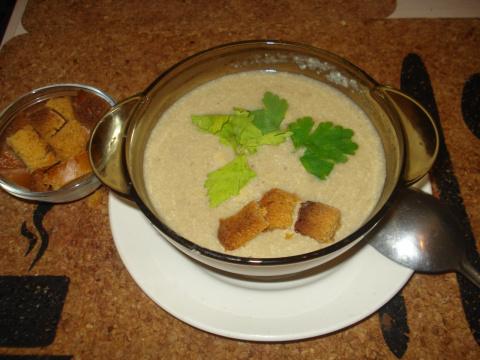 Суп-пюре грибной (Crème de champignons) - французская кухня