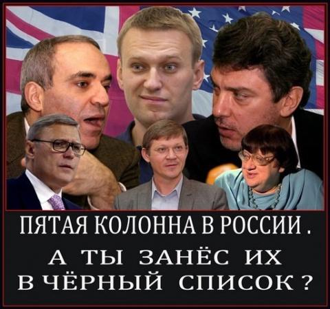 СПИСКИ ПЯТОЙ КОЛОННЫ РОССИИ-…