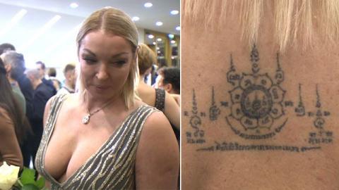 Показала все тату: Волочкова пришла в Кремль в откровенном наряде