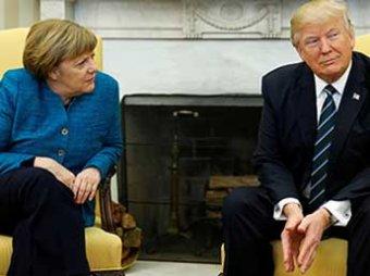 Отказ Трампа подать руку Мер…