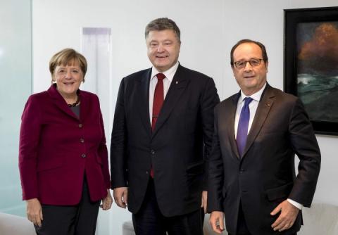 Олланд и Меркель оскорбили Киев, выставив Порошенко за дверь
