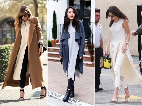 Необычное сочетание: платье и брюки
