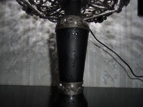 Светильник. Черное кружево
