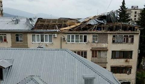 ВАбхазии снесенные стихией …