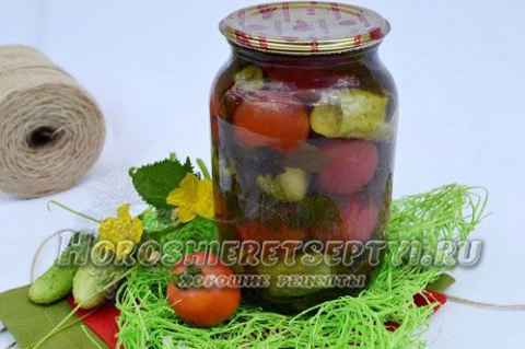 Огурцы с помидорами на зиму