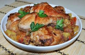 Жареная курица с киви — пошаговый фоторецепт