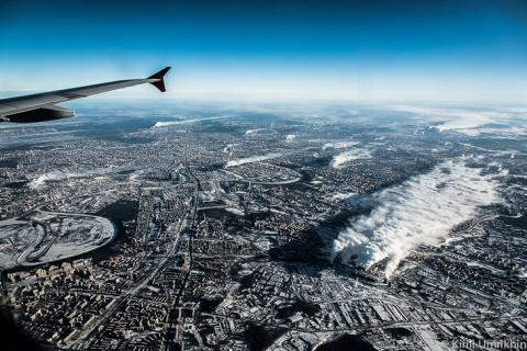 Зимняя Москва с высоты птичь…