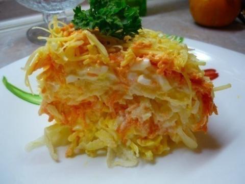 Легкий и бесподобный салат «Французский» из самых доступных ингредиентов!