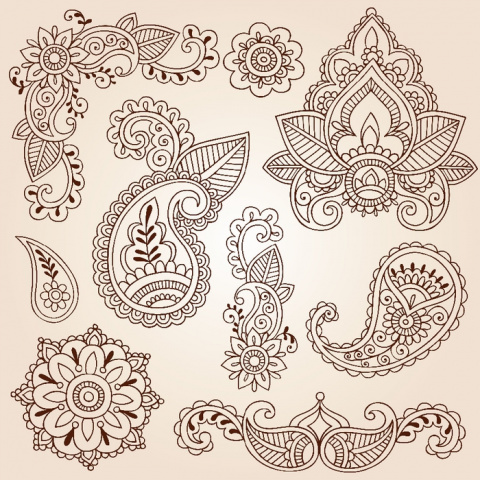 Paisley - шаблоны для росписи