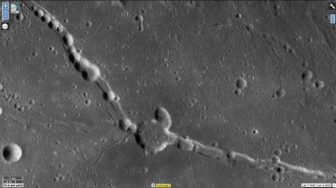 Несколько необычных снимков поверхности Луны