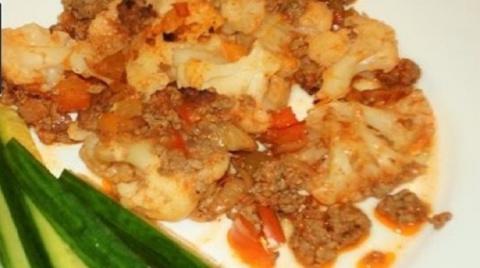 Вкуснейшая цветная капуста с мясом в духовке