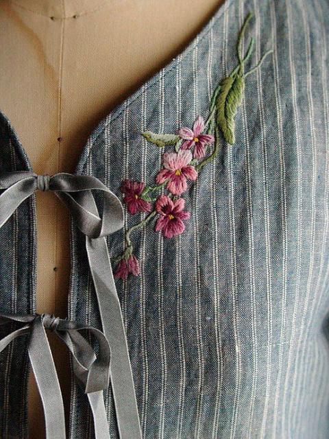 Идеи ручной и машинной вышивки на одежде