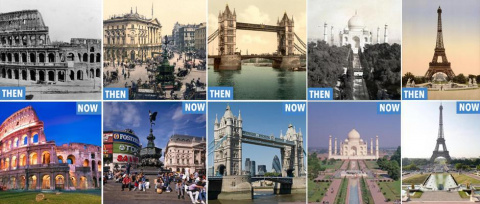 Мировые достопримечательности 100 лет назад и сейчас