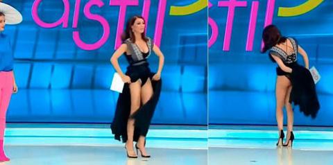 Румынская телеведущая в прям…