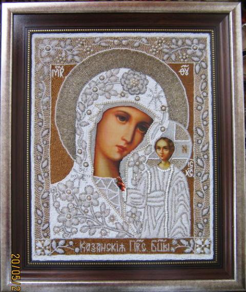 иконы богородицы бисером:
