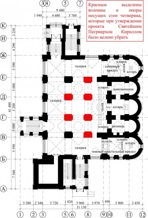 План храма Всех святых