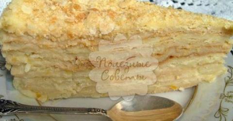 """Торт """"Наполеон"""": классический рецепт"""