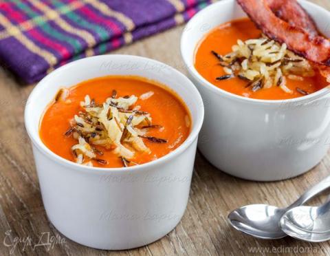 ДЕНЬ ПЕРВОГО БЛЮДА. Томатный крем-суп с хрустящим рисом