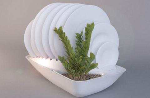 Сушилка для посуды - контейнер для растений