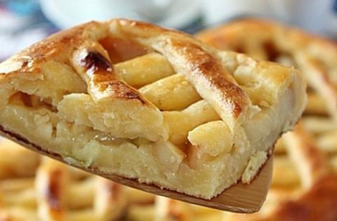 Творожный пирог с яблоками и…