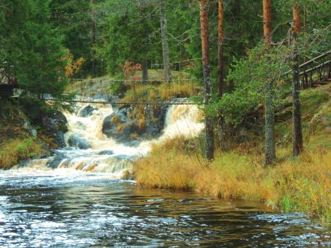 Сказочная Карелия: Водопад Ахвенкоски