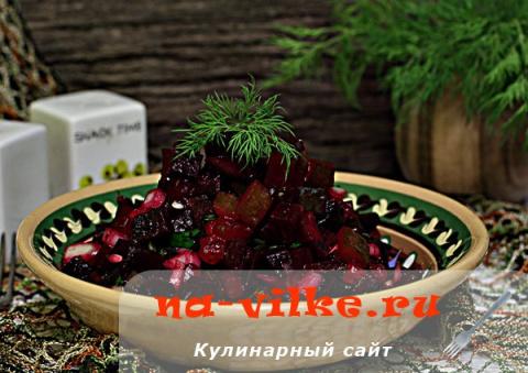 Салат из свеклы и огурцов