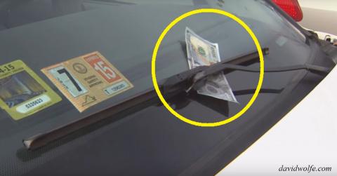 500 рублей на лобовом стекле