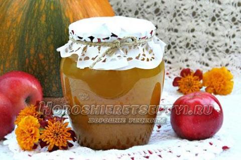 Тыквенно — яблочный сок на зиму