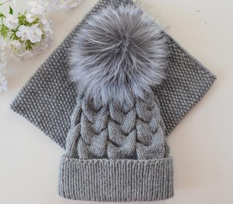 Симпатичный комплект из шапк…