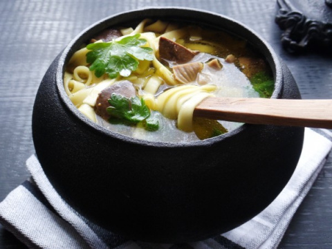 Потрошки. Суп с куриными потрохами на курином бульоне.