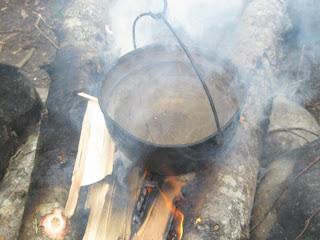 Суп харчо на костре