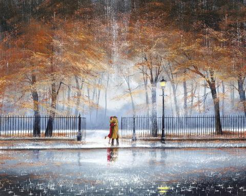 Художник, рисующий дождь