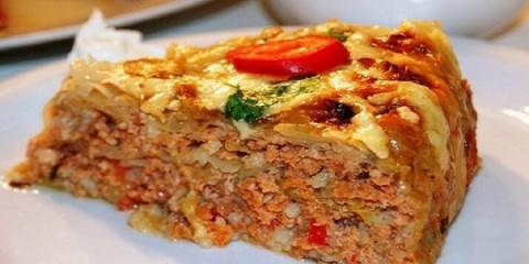 Посидим, поедим... Пирог с капустой и мясным фаршем