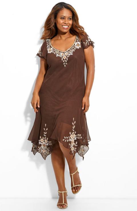Выкройка платья для полных. Модели одежды для полных