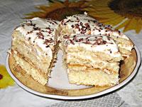 Торт медовик со сметанным кремом.