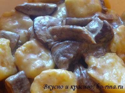 ВКУСНО И КРАСИВО! Ньокки с грибами в сливочном соусе