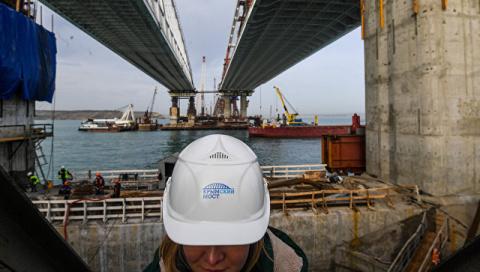 Мост через Керченский пролив сомкнется к концу декабря