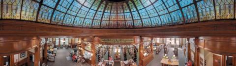 Американские библиотеки на панорамных снимках Томаса Шиффа