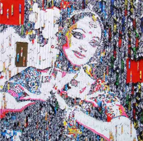 Индийский художник Винита Дасгупта