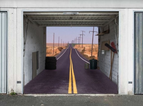 Необычные ворота для гаража …