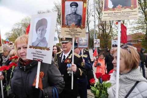 34 тысячи жителей области прошли парадом в «Бессмертном полку»