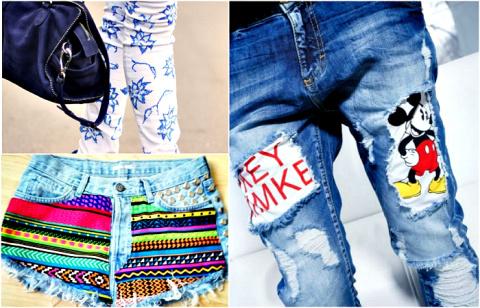 Крутые трансформации старых джинсов