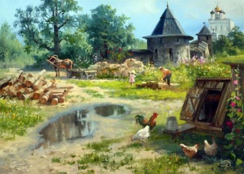 Российские пейзажи в картинах художника Владимира Жданова.