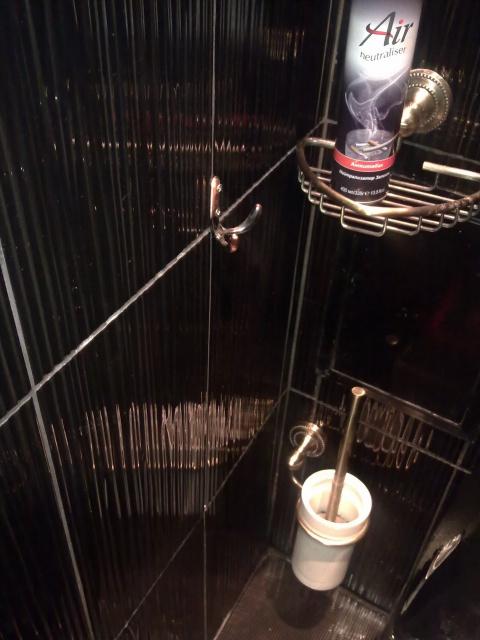 Абсолютно черный туалет. До и после ремонта!